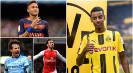 Neymar, Isak, Cazorla y Villa. BeSoccer