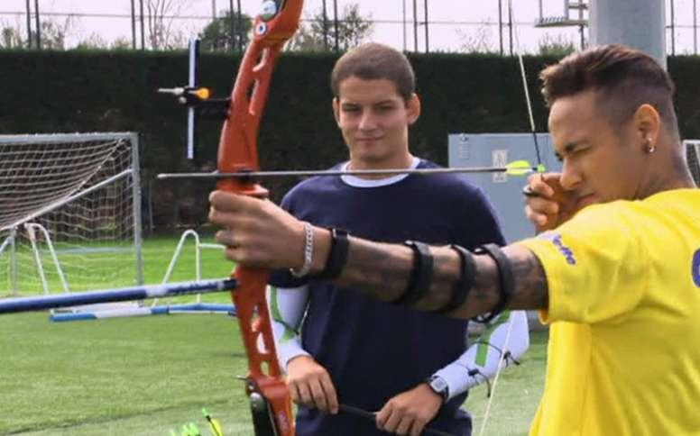 Neymar aceptó el resto del programa de Luciano Huck. Caldeiro de Huck