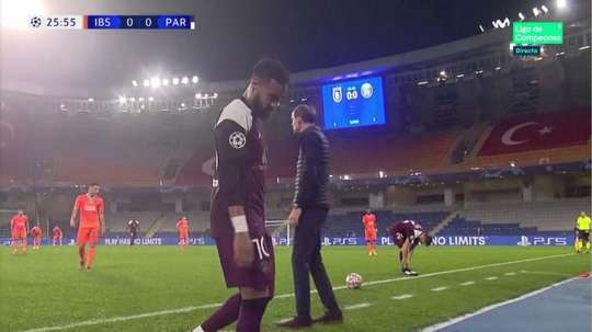 Neymar esce infortunato. MovistarLigadeCampeones