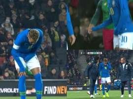 Neymar desató todas las alarmas. Capturas/beINSports