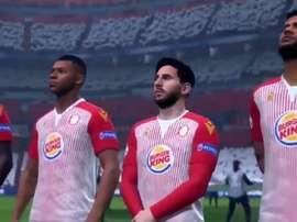 Neymar, Messi, Mbappé and Pogba in the stevenage shirt. Screenshot/StevenageFC