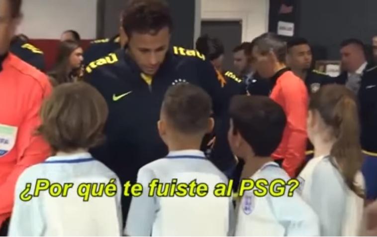 Neymar se tuvo que enfrentar a las preguntas de los más pequeños. Youtube