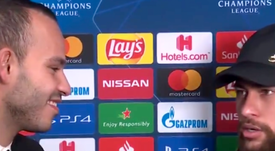 Neymar es feliz jugando. Twitter/RMCsport