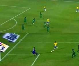 Le Brésil a pris les devants grâce à un but de Gabriel Jesús. Capture/BeINSports