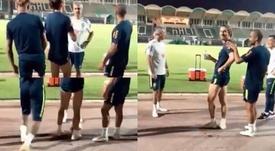 Neymar, auteur d'une blague sur son coéquipier Filipe Luis. Instagram/Neymar
