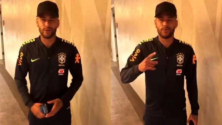 Neymar le prestó su apoyo al boxeador. Capturas/Instagram/yordenis_urgas