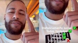 Neymar debocha de possível festa para 500 convidados. Instagram/neymarjr