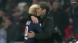 Robert Moreno y Neymar mantienen una gran relación. Captura/Canal+