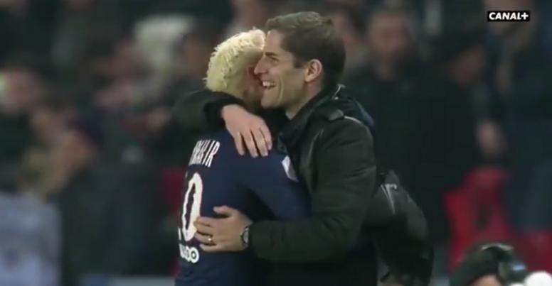 Robert Moreno e Neymar mantêm uma grande relação. Captura/Canal+