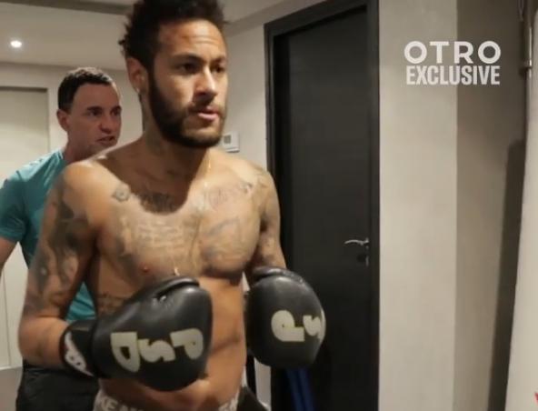 Neymar tem treino especial com movimentos de boxe. Instagram neymarjrsiteoficial