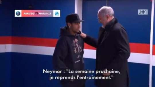 Neymar, muito perto de um retorno. Captura/J+1