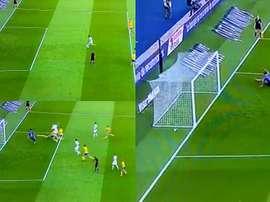 Neymar e Mbappé tiveram sucesso na jogada. Capturas/beINSports