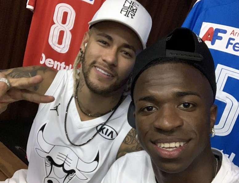 Neymar e Vinicius serão as estrelas ofensivas do Brasil. Twitter/vini11Oficial