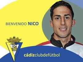 Nico, nuevo jugador del Cádiz. CádizCF