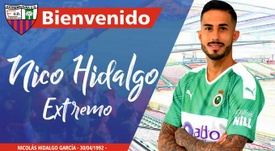 Nico Hidalgo, nuevo jugador del Extremadura. Twitter/EXT_UD