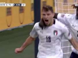 Barella porta in vantaggio l'Italia. BeinSport