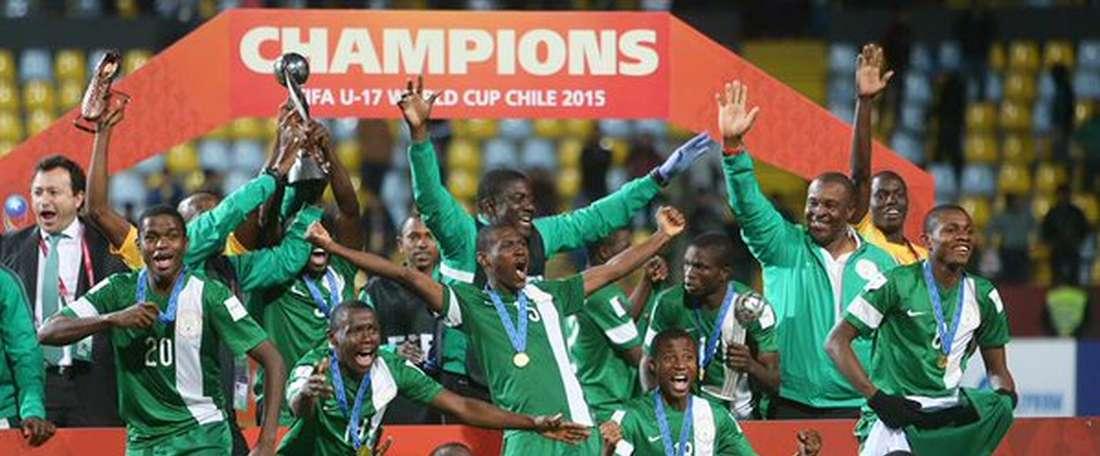 Nigeria conquista el quinto Mundial Sub 17. Twitter