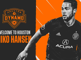 Hansen a rejoint Houston. HoustonDynamo