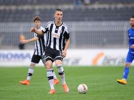 Nikola Milenkovic, lors d'un match de ligue serbe avec le Partizan de Belgrade. FKPartizan