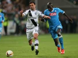 Nikolics lors d'une rencontre avec le Legia. AFP