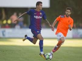 Luis Enrique puso a Nili Perdomo por delante de Aleix Vidal. FCB