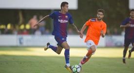 El ex azulgrana podría tener su primera experiencia en el extranjero. Twitter/FCBarcelona