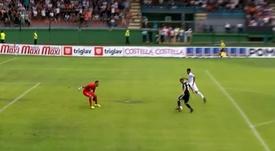 Nino Kouter scored an exceptional goal. Twitter/PrvaligatelekomSlovenije