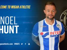 Noel Hunt llega libre al Wigan Athletic. TwitterWiganAthletic