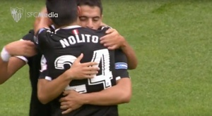 Sevilha vence Arsenal. Youtube/SevillaFC