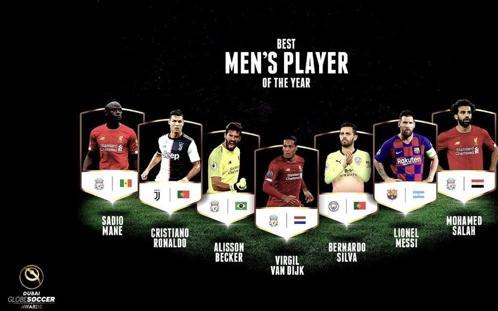 Messi fue nominado en el Globe Soccer Awards