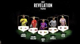 João Félix e Ansu Fati estão entre os indicados a revelação. Globe_Soccer