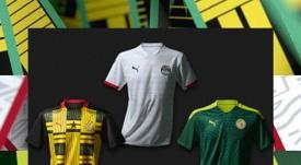 Puma dévoile les nouveaux maillots des sélections africaines.  Twitter/Puma