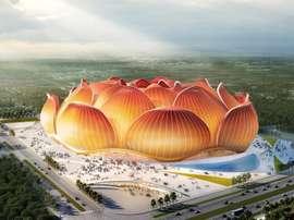 Novo estádio do Guangzhou Evergrande. Captura