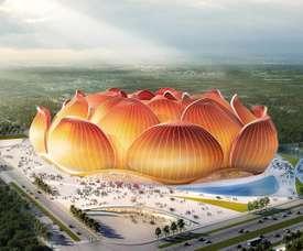 Guangzhou Evergrande será o quarto maior estádio do mundo. Captura