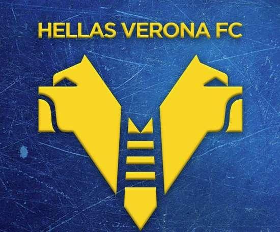 Hellas Verona apresenta seu novo escudo. Twitter/HellasVeronaFC