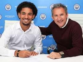 New Manchester City signing Douglas Luiz. Twitter/ManchesterCity