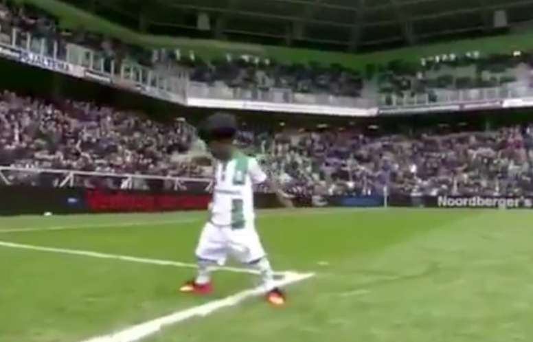 Nune van Lint the boy that copied Cristiano Ronaldo. Maduro Hedwiges