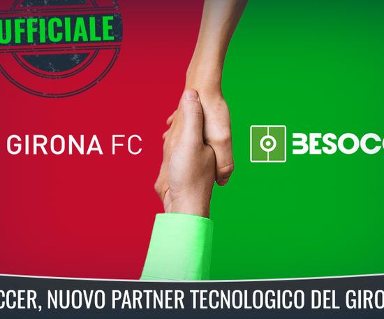 Nuova partnership Girona FC-BeSoccer. BeSoccer