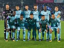 'Azuis e brancos' vacilaram antes da receção ao Benfica. Twitter/FCP
