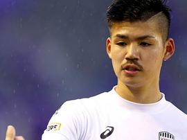 O japonês Daiju Sasaki será o novo jogador do Palmeiras. Twitter @J_Backbauer