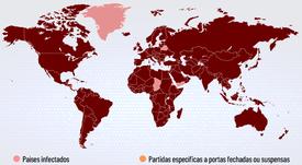 O coronavírus obriga as autoridades do futebol a tomarem medidas. AFP