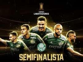 O Palmeiras está na semifinal da Libertadores. Twitter @Libertadores