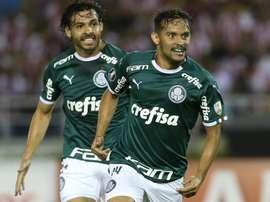 Scarpa foi o autor do primeiro golo do Palmeiras. Twitter@Palmeiras