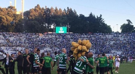 O Sporting celebra a conquista da Taça de Portugal frente ao FC Porto. Twitter@Sporting_CP