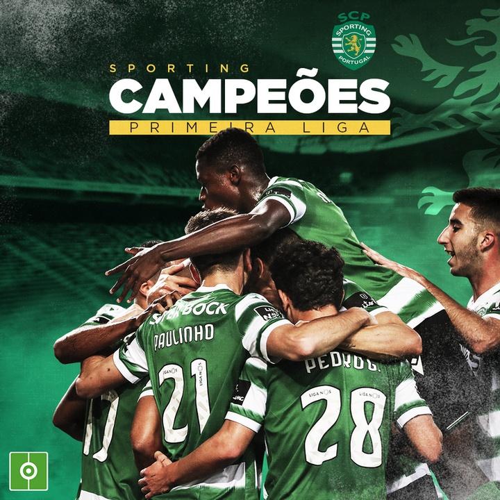 O Sporting é campeão português 2020-21. BeSoccer