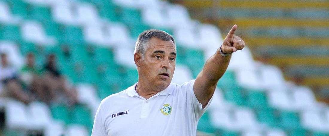 O treinador do V. Setúbal estava, obviamente, satisfeito com o triunfo. Twitter