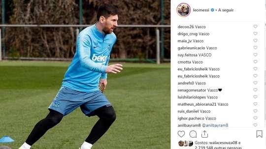 O Vasco toma conta das redes sociais. Instagram @leomessi