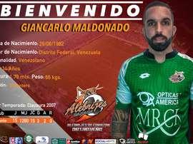 Oaxaca hace oficial el fichaje de Maldonado. Twitter/AlebrijesOaxaca