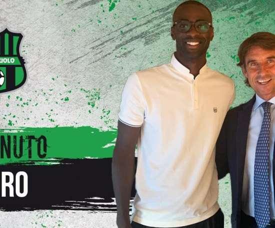 Obiang est le nouveau joueur de Sassuolo. Twitter/SassuoloUS