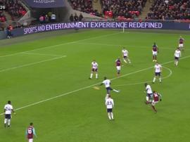 Obiang marcó un verdadero golazo para adelantar a los 'hammers'. SkySports